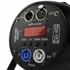 Алюминиевый сплав Авиационный штекер LED Par 54x9 Вт RGB LED Освещение DMX512 DJ Сценический световой дизайн