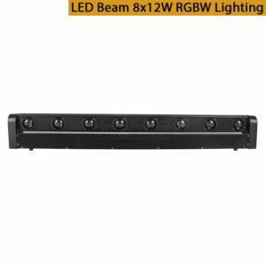Светодиодный луч 8x12W RGBW с подвижным головным освещением Бесплатная и быстрая доставка
