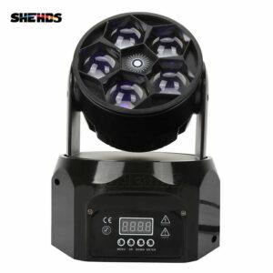 LED Beam + Wash Five Bee Eyes 5x12 Вт RGBW с подвижным головным светом DMX 512 Сценический световой эффект