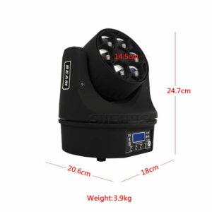 LED Beam + Wash 6x15 Вт RGBW 4IN1 Bees Eyes Светодиодный прожектор с отличными программами 11/14 каналов