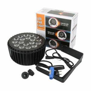 Алюминиевый сплав LED Par 18x12 Вт 4in1 / 18x18W 6in1 LED Par Может Led Par Light DMX Сценическое освещение или вечеринка KTV Disco DJ Lamp
