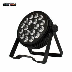 Алюминиевый сплав LED плоский Par 18x12 Вт RGB + УФ-свет DMX512 сценическое освещение для DJ диско-вечеринка проектор ночной клуб быстрая бесплатная д