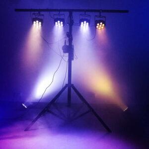 LED Flat Par 7x12 Вт RGBW Фиксированный Кабель DMX Сценические Фонари Мощный Свет С Профессиональным Для Партии КТВ Диско DJ