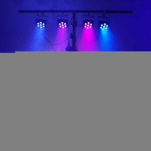 LED Par 7x18 Вт RGBWA + UV 6IN1 Профессиональное освещение для сценического эффекта Атмосфера диско DJ Music Party Club Dance Floor