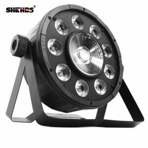 LED Flat Par 9x10 Вт + 30 Вт RGB Освещение Для DMX512 Сценический Эффект Профессиональный DJ Оборудование И Партия Танцпол Дискотека Бесплатная Достав