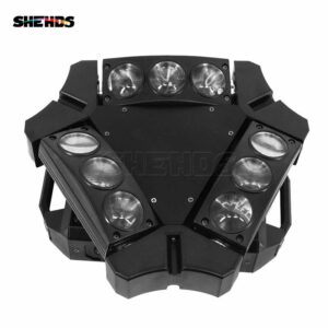 Мини светодиодный луч Spider 9x10W RGBW с подвижным головным освещением