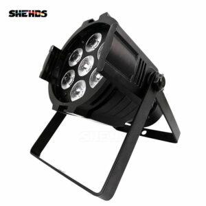(Мини) Алюминиевый сплав LED Par 7x18 Вт RGBWA + УФ-освещение с DMX512 для дискотеки DJ Party Украшение
