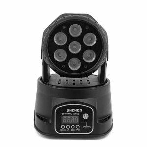 Быстрая доставка LED Moving Head Wash 7x12 Вт RGBW Освещение Quad с расширенными DMX 10/15 каналов DMX512 Хорошо для DJ Night Club Show