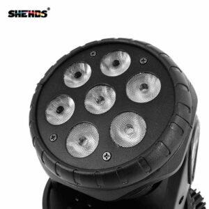Заводская розетка LED 7x18 Вт с подвижным головным светом 6IN1 RGBWA + UV Professional для сцены с эффектом для диско DJ Music Party Club Dance