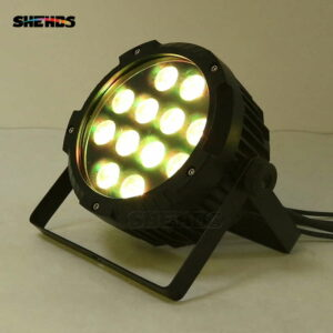 Waterproof LED Flat Par 12x12W RGBWLighting With DMX512 for Disco DJ Party Decoration Stage Lighting