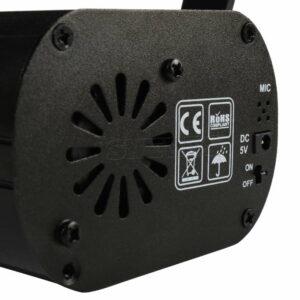 USB Зарядка Мини 60in1 R & G Беспроводной Пульт Дистанционного Управления Лазерный Проектор Звук Активируется Профессиональный DJ Бар Свадьба День Рож