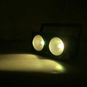 SHEHDS 2eyes 200W LED COB Blinder Холодный белый + теплое белое освещение